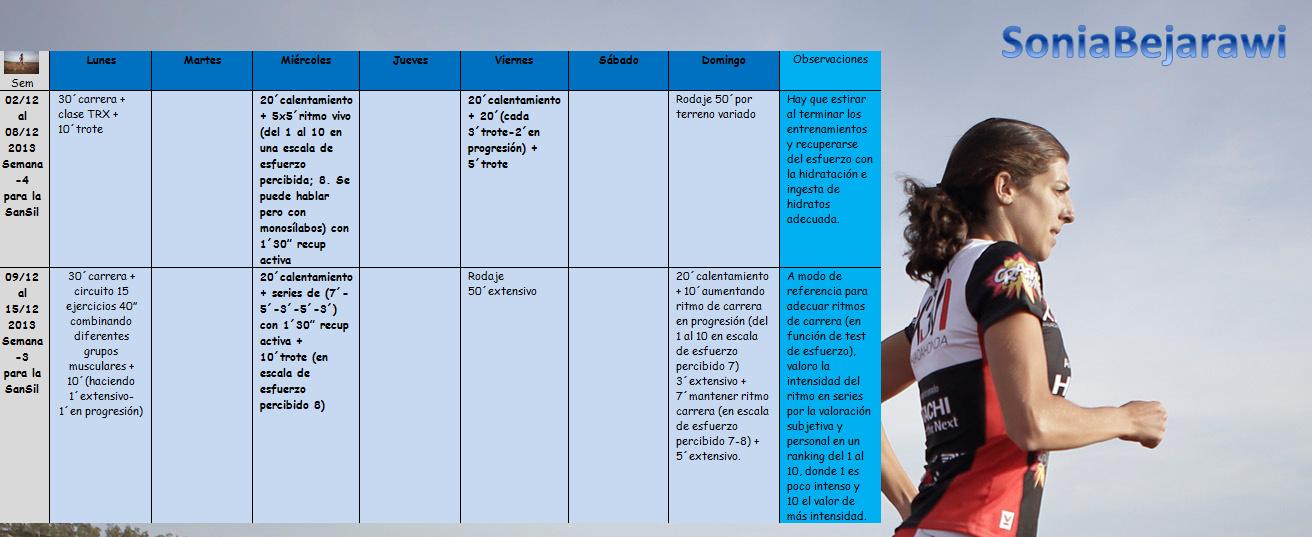 Entrenamiento 2-15 dic 2013